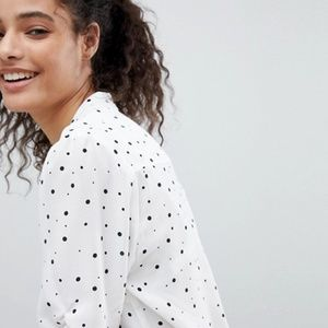 ASOS Tops - ASOS Button Down Blouse In Mini Spot - Polka Dot